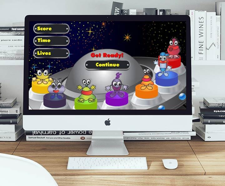 איורים ועיצוב ממשק למשחק זכרון מוזיקלי לילדים